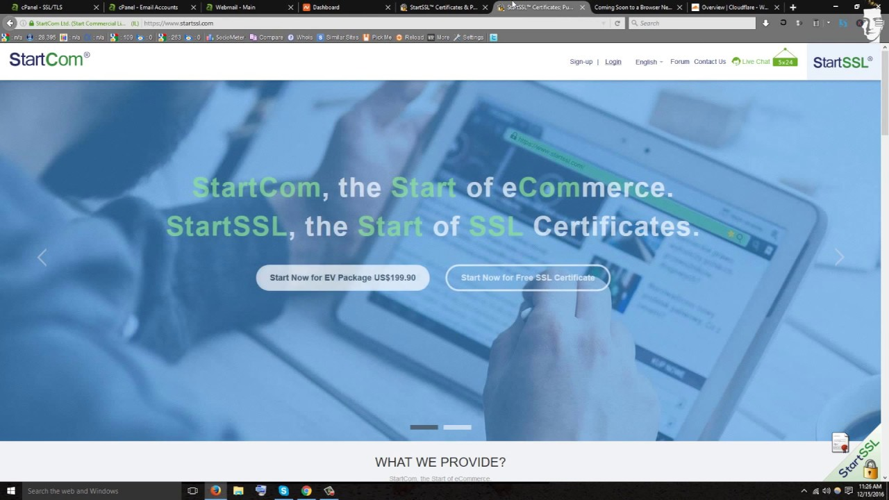 How To Create An Ssl Certificate For Free Startssl Not Cloudflare