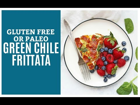Simple Green Chile Frittata (Gluten Free & Paleo Friendly)