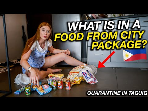 Unboxing Manila Quarantine FOOD PACKAGE From Taguig CIty