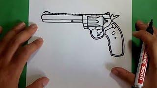 Como Dibujar Un Revolver Paso Paso