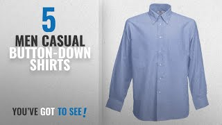 Fruit Of The Loom Casual Button-Down Shirts [ Winter 2018 ] | New & Popular 2018