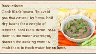 Black Bean Hummus, Under 20 Cook, Healthy Alkaline Fast Food Recipes