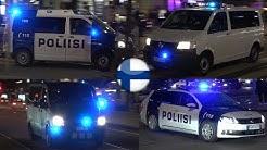 Police cars responding in Helsinki/Helsingin poliisi hälytysajo [FI | 4.2018]
