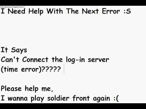 Soldier Front Error (Time Error)???