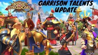 GARRISON TALENTS UPDATE - In depth talk about garrison talents - Rise of Kingdoms
