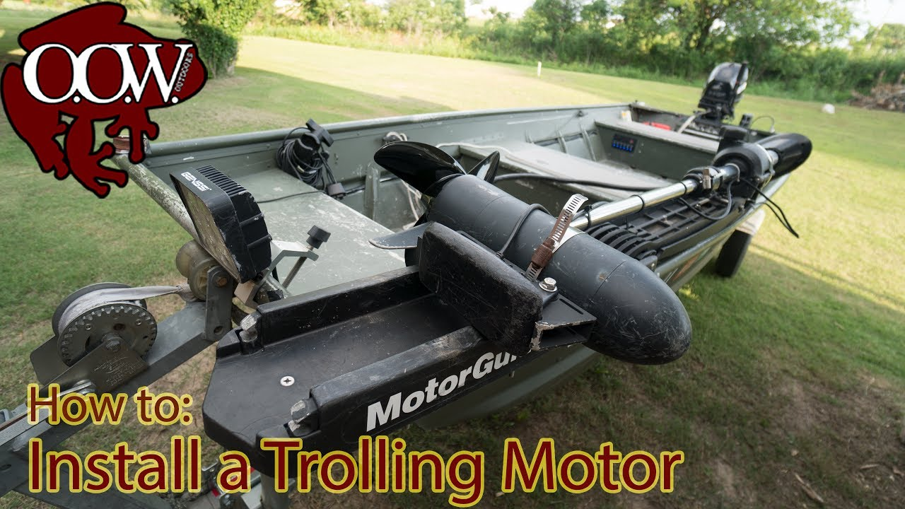 How To Install Trolling Motor Jon Boat No Custom Mounting