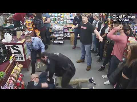 Surveillance footage shows 'excessive force' arrest of former Washington State football player