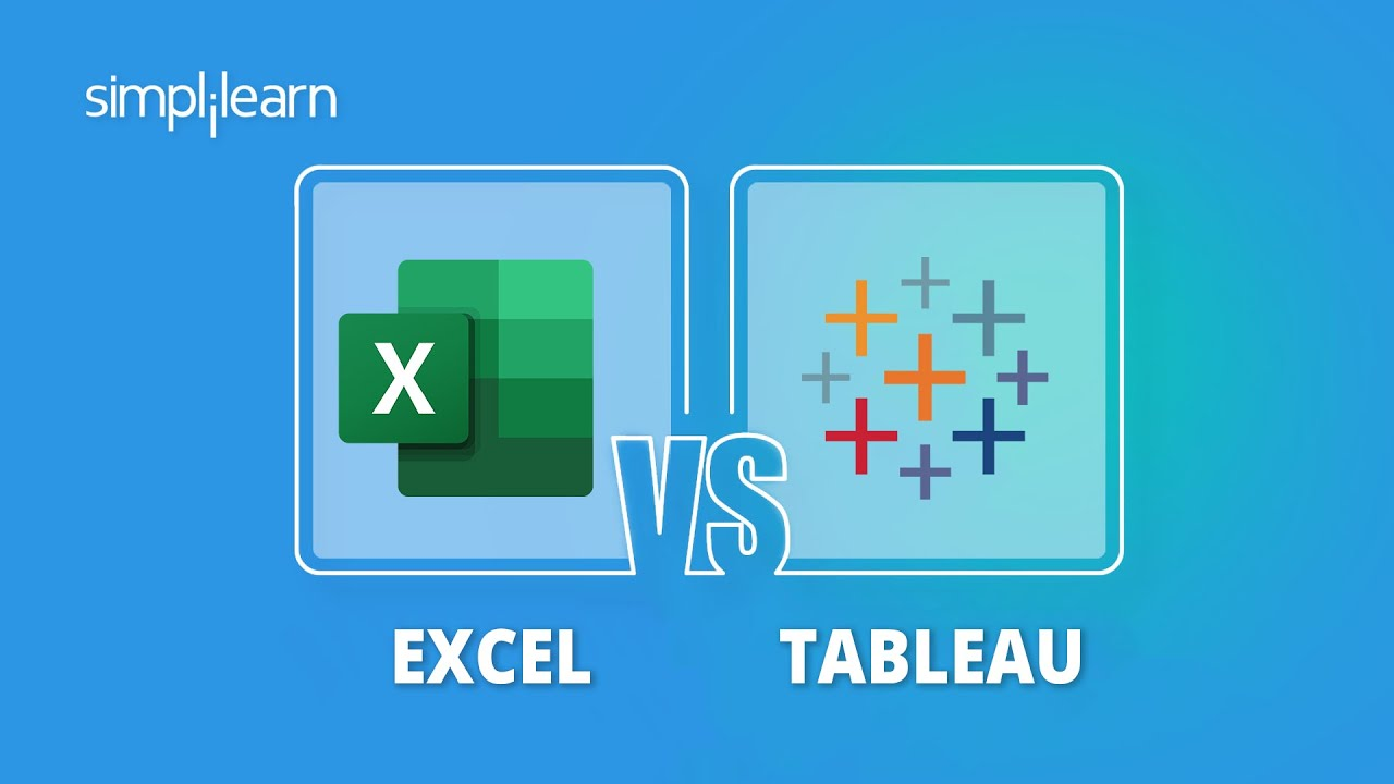 Excel vs Tableau - Which Tool To Use?   Tableau & Excel Diffeerence   Tablaeu vs Excel