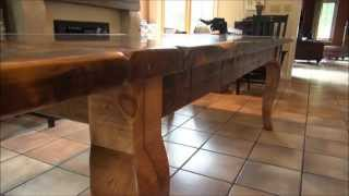 Reclaimed Wood Tables By Hd Threshing Floor Furniture Extended Intro Video