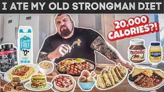 Download I ate my old Strongman diet for a day Mp3 and Videos