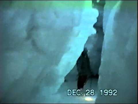 Antarctica Operation Deep Freeze 92 inside glacier