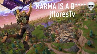 NEVER CELEBRATE TOO EARLY! The karma is real. (Fortnite Battle Royale)| jfloresTv