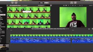 How to use IMovie with 2014 Yosemite to make a green screen movie