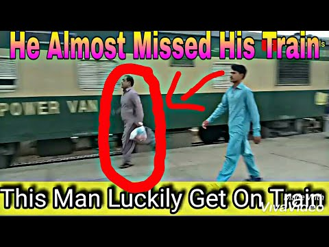 This Staff Man Almost Missed His Train, 13 Up Awam Express Departing Karachi Cantonment...