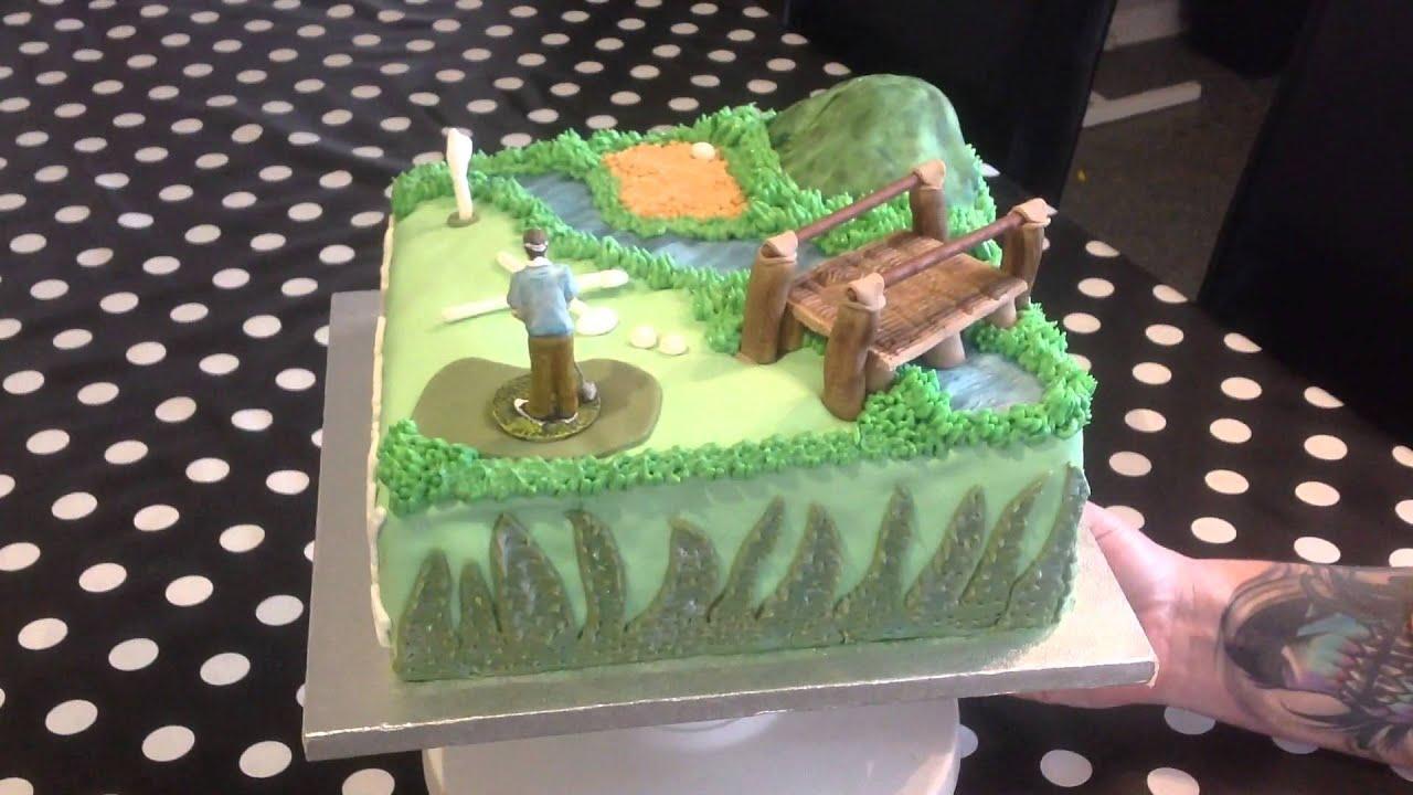 Golf theme fondant birthday cake YouTube