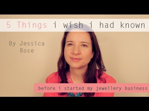 Starting a Jewelry Business - 5 Things I Wish I had Known First