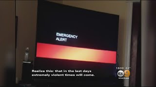 Creepy Emergency Broadcast Alert Hints At