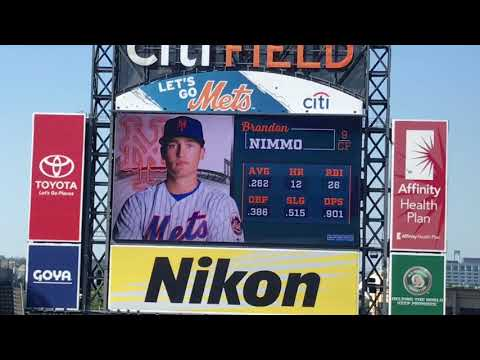 Brandon Nimmo Walk Up Songs and Jumbotron Animations 2018