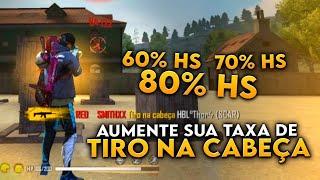 COMO AUMENTAR A TAXA DE TIRO NA CABEÇA NO FREE FIRE - SOLO VS SQUAD - SMITH FF