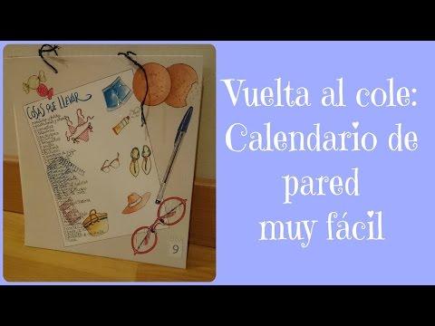 DIY: Hacer un calendario de pared personalizado