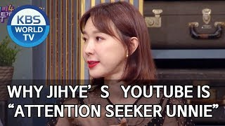 "Why Jihye's Youtube channel name is ""Attention Seeker Unnie"" [Happy Together/2020.02.20]"
