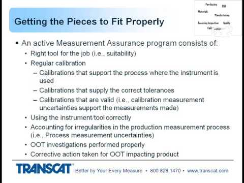 Calibrations Role in the Manufacturing Jigsaw Puzzle