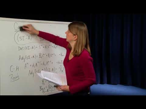 EE221A: Linear Systems Theory, Cayley Hamilton Theorem