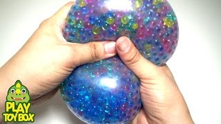 Learning Colors Stress Ball Balloon POP Squishy Stretchy Fun Orbeez DIY