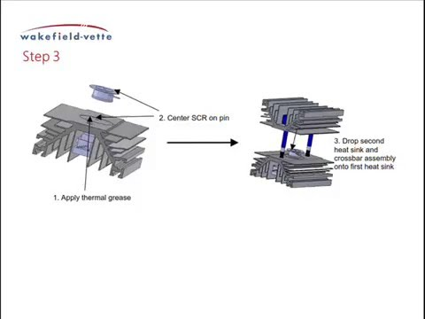 SCR Heat Sink Clamp Assembly Procedure Wakefield-Vette