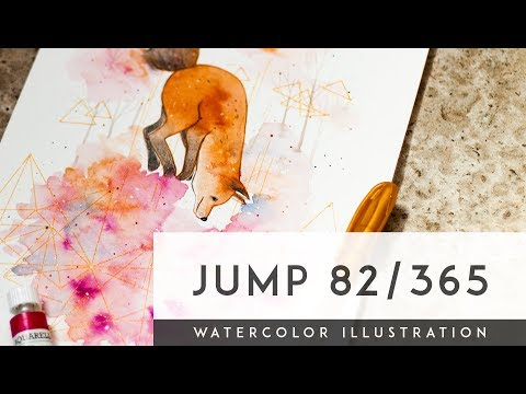 Jump Into The Unknown 82/365 | Watercolor Illustration