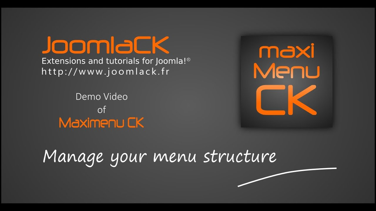Maxi menu CK - Responsive dropdown megamenu for Joomla! - JoomlaCK