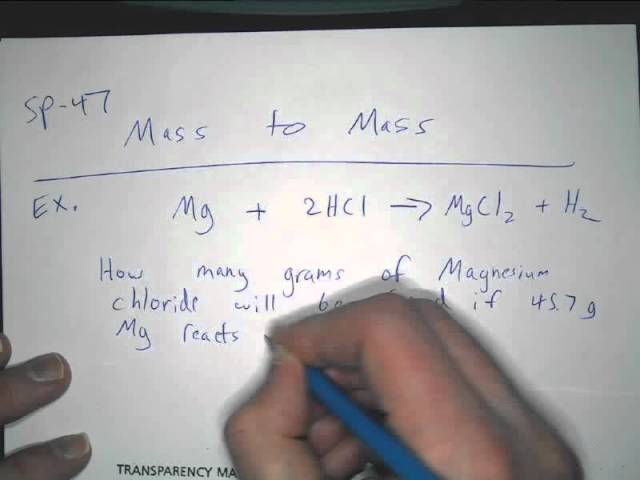 Mass To Mass Stoichiometry Lessons Tes Teach