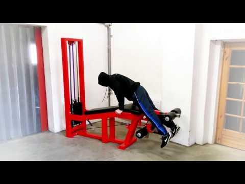 Beinstreck-/ Beinbeugemaschine / Leg Extension & Curl Machine 8M   Flame Sport