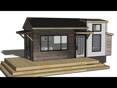 Tiny Vacation Home Design Floorplan Layout with Guest Bed ...