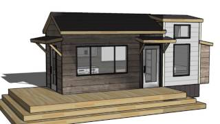 Tiny Vacation Home Design Floorplan Layout With Guest Bed: Ana White Tiny House Build  Episode 1