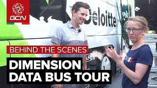 team dimension data bus tour behind the scenes at the giro ditalia