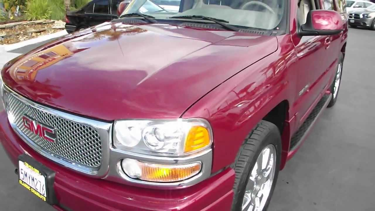 2006 used gmc san diego yukon denali 9998a for sale at classic chariots in oceanside