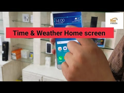 How To Time & Weather Show On Home Screen | Weather And Time