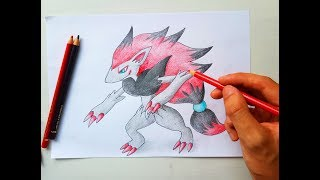 How to draw Zoroark | Pokemon