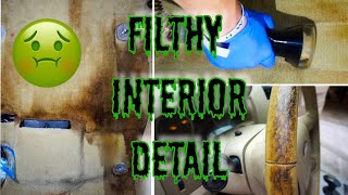 DEEP CLEANING The Filthiest Interior Ever! Complete Disaster Car Detailing | NASTY Carpet Extraction