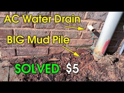 AC Drain Drip Near Foundation - Move AC Drain Water