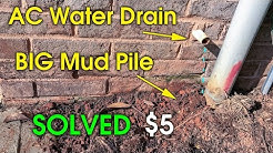 AC Drain Drip Near Foundation - Move AC Drain Water