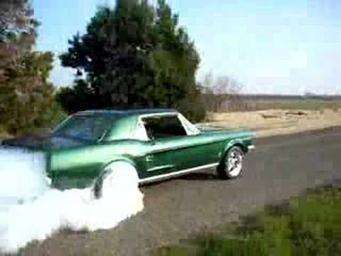 1967 mustang burnout - 1967 Ford Mustang Coupe Green