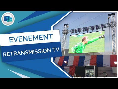 Retransmission Football Sur écran Géant LED - France Ecran Location