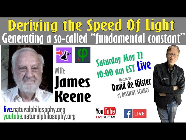 Deriving the Speed of Light - with James Keene