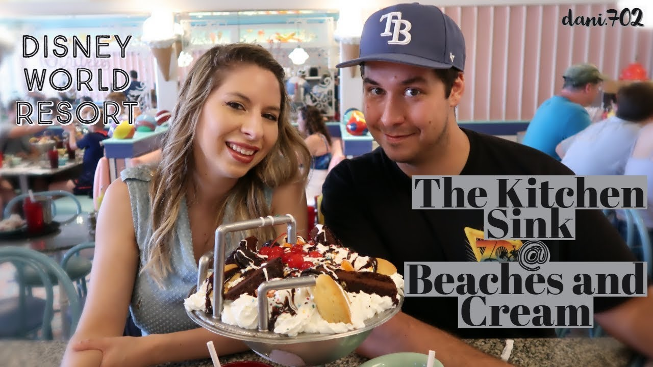 Beaches And Cream Soda Shop The Kitchen Sink Challenge At Disney World Youtube