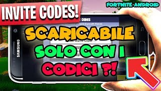 FORTNITE mobile ANDROID - Will you be able to DOWNLOAD only with CODES?! DOWNLOAD FORTNITE ANDROID