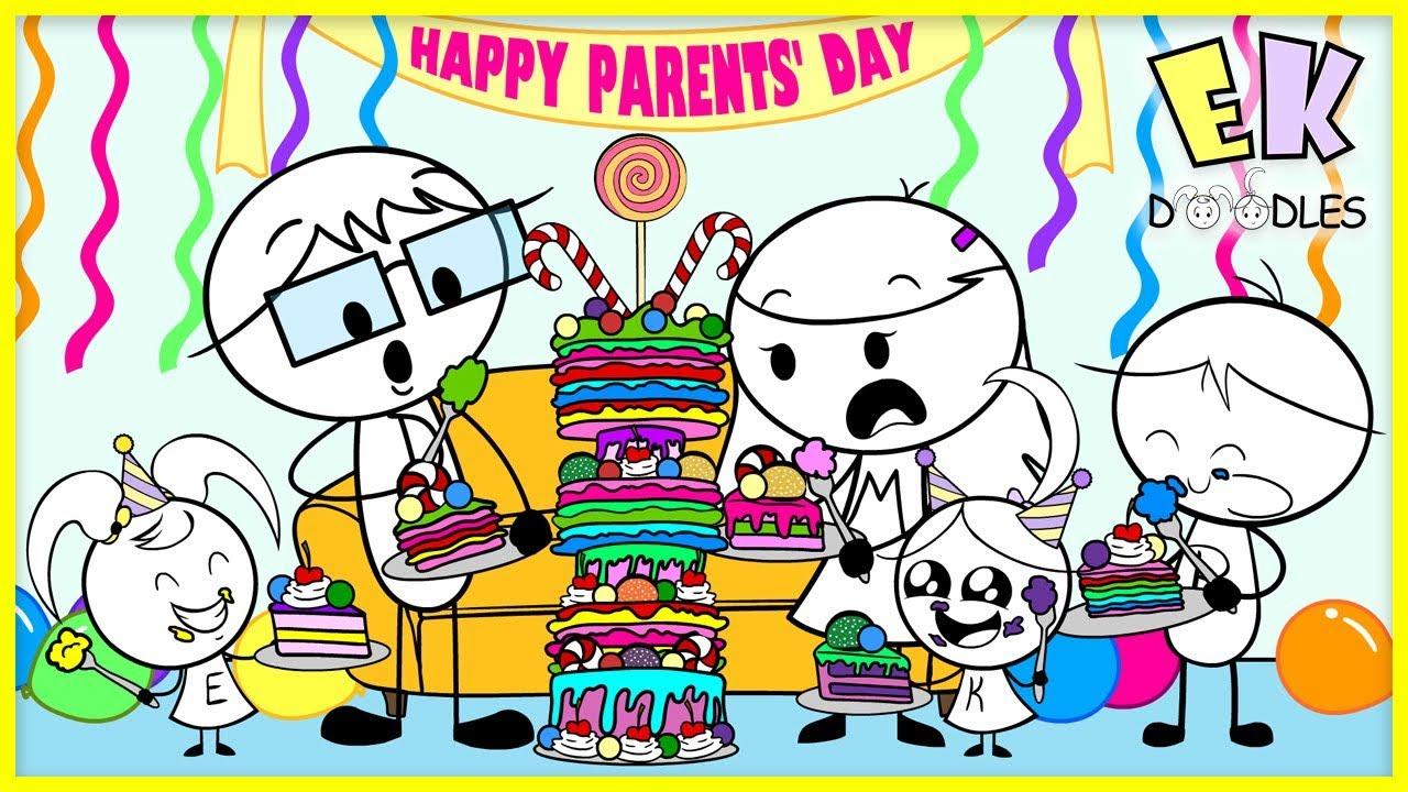 Download BAKING CHALLENGE for PARENTS' DAY ! EK Doodles bake cakes for Mommy & Daddy!