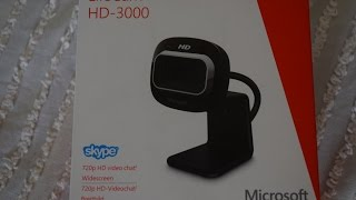 Microsoft Lifecam HD - 3000 webcam (Unboxing and Review)
