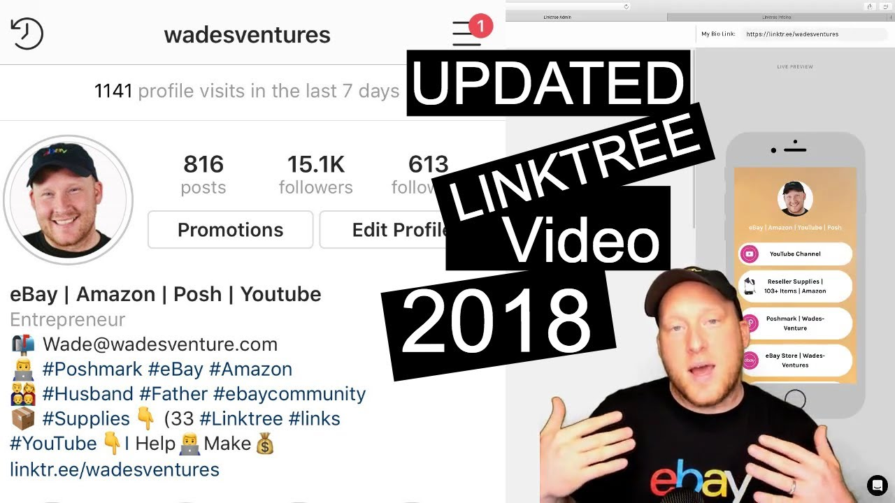 How to add a clickable link to Instagram FREE & PRO 2018 UPDATES!!!